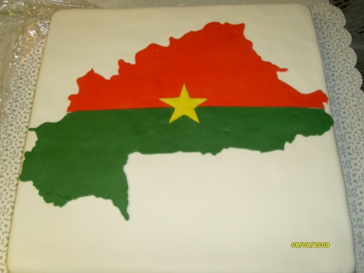 Burkina Faso Country Flag Cake 2