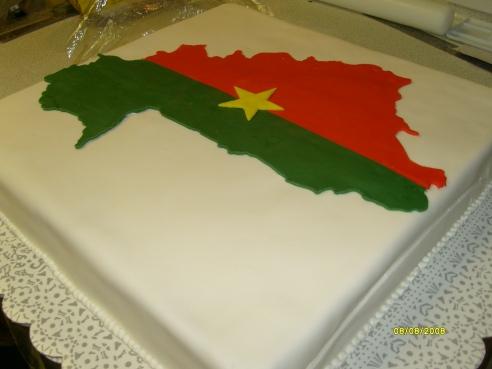 Burkina Faso Country Flag Cake 1
