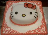 Hello Kitty Cake Closeup