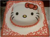 Hello Kitty Cake Closeup