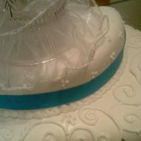 Blue Ribbon with Fondant and Royal Icing