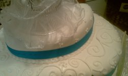 Blue Ribbon with Fondant and Royal Icing