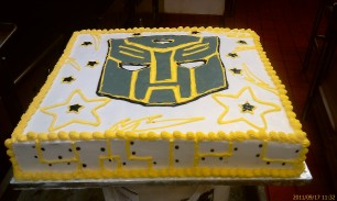 Fondant Decepticon Decoration