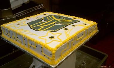 "16"" square transformers cake"