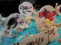 Closeup of Nemo images on White Chocolate Plates