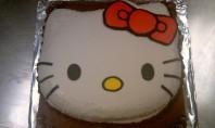 Dark Chocolate Hello Kitty Cake