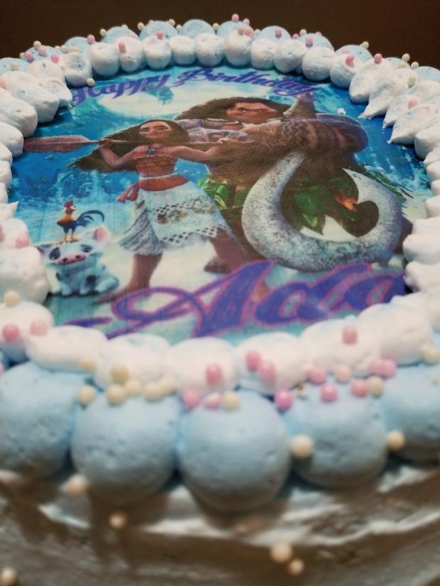Moana and Maui Personalized Cake Topper